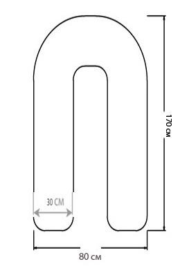Размеры u образной подушки для беременных 62